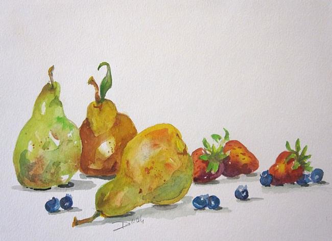 Art: Pears and Berries No.2 by Artist Delilah Smith