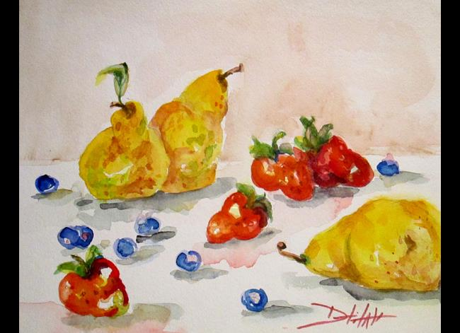 Art: Fruit and Berries No.3 by Artist Delilah Smith