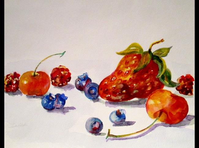 Art: Berries and Cherries by Artist Delilah Smith