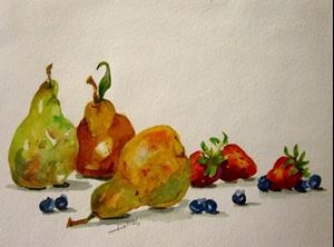 Detail Image for art Pears and Berries No.2