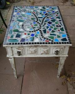 Detail Image for art Mosaic side table