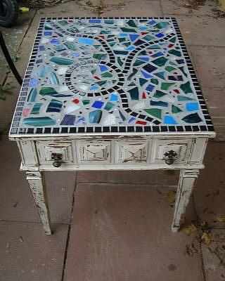 Charmant Detail Image For Art Mosaic Side Table