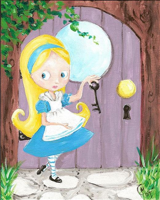 Art: Alice and the Key to WOnderland by Artist Noelle Hunt