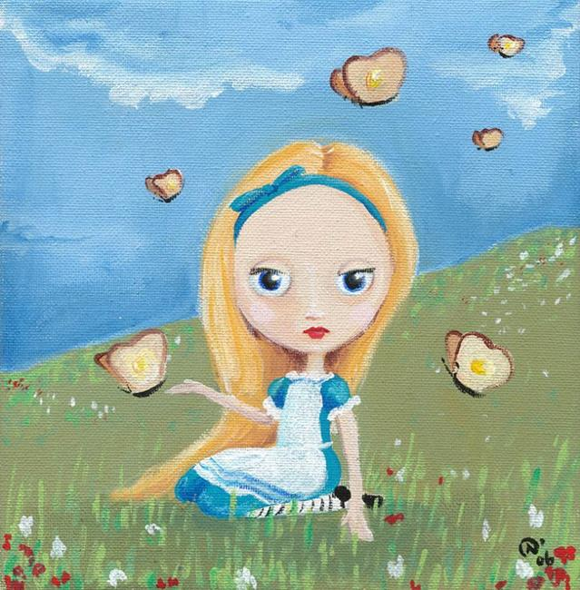 Art: Alice & the breadandbutterflies by Artist Noelle Hunt