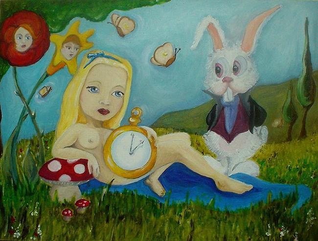 Art: Alice in wonderland Nude by Artist Noelle Hunt