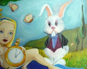 Detail Image for art Alice in wonderland Nude