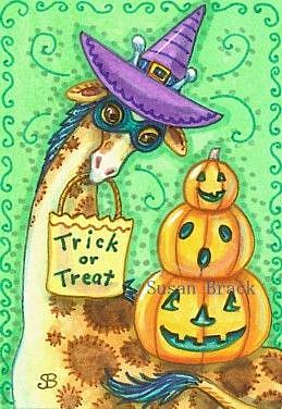 Art: TALL TRICK OR TREATER by Artist Susan Brack