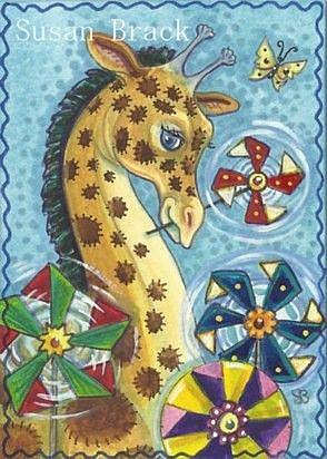 Art: PINWHEEL GIRAFFE by Artist Susan Brack