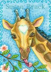 Art: BROWN EYES by Artist Susan Brack