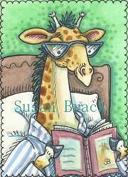 Art: CAN'T PUT DOWN A GOOD BOOK by Artist Susan Brack