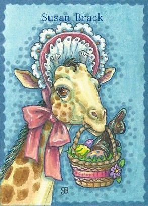 Art: EASTER GIRAFFE by Artist Susan Brack