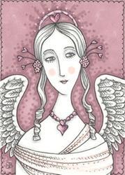 Art: VALENTINE ANGEL Victoria by Artist Susan Brack