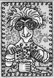 Art: MAD SCIENTIST - Stamps by Artist Susan Brack