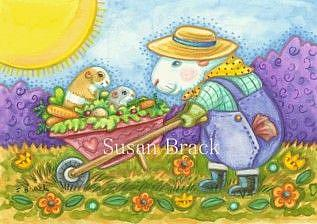 Art: OLD MCGUINEA PIG'S FARM by Artist Susan Brack