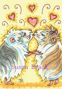 Art: GUINEA PIG KISSES by Artist Susan Brack