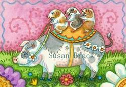Art: GUINEA PIG ROUND UP by Artist Susan Brack