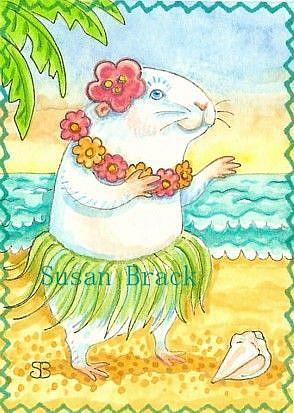 Art: HULA DANCER Guinea Pig by Artist Susan Brack
