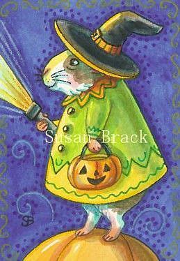 Art: GUINEA PIG HALLOWEEN by Artist Susan Brack