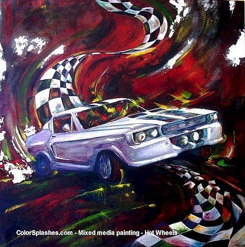 Art: Hot Wheels by Artist Kathryn Delany