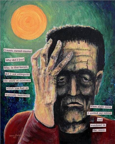 Art: Mary Shelley's Monster by Artist Sara Field