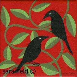 Art: Corvines by Artist Sara Field