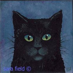 Art: Black Cat by Artist Sara Field