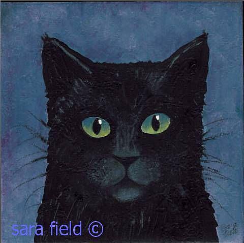Art: Black Cat by Artist Sara Field