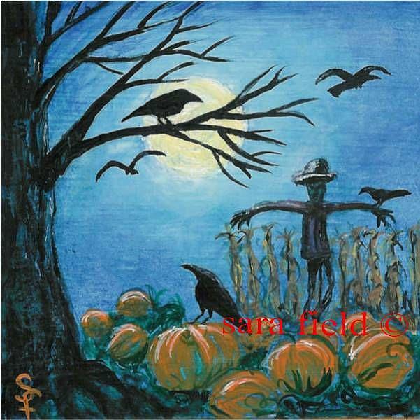 Art: When Scarecrows Sleep by Artist Sara Field