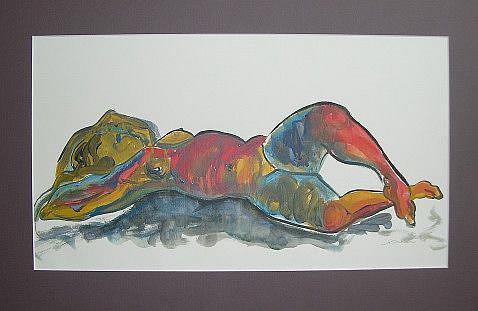 Art: Reclining Nude by Artist Laura Gemme Triplett