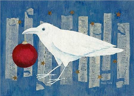 Art: White Crow Holiday by Artist Sara Field