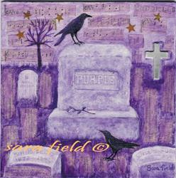 Art: Deep Purple by Artist Sara Field