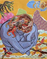 Art: Blue Rock by Artist Laura Gemme Triplett