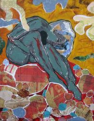 Art: Red Rocks by Artist Laura Gemme Triplett