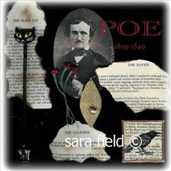 Art: Poe Collage by Artist Sara Field
