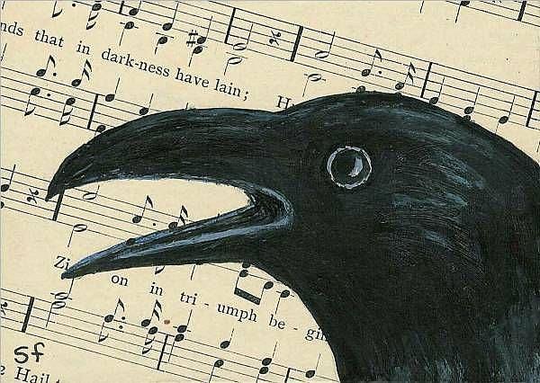 Art: Corvus Chorus by Artist Sara Field