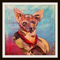 Art: Rescue Chihuahua: CoCo by Artist Laura Gemme Triplett