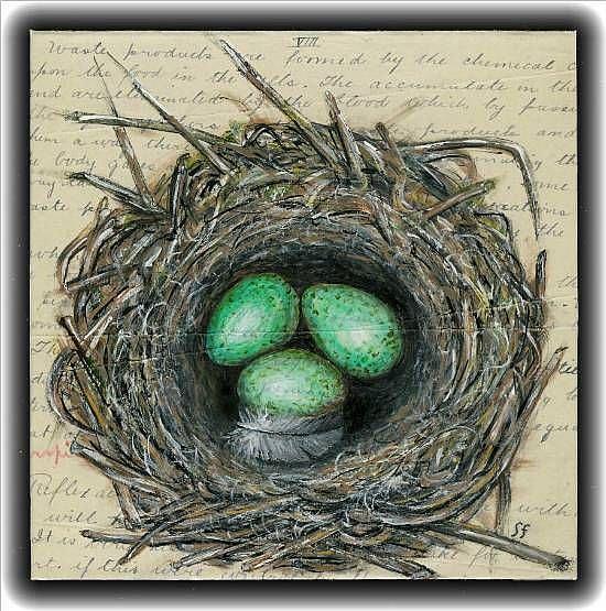 Art: Crow's Nest II by Artist Sara Field