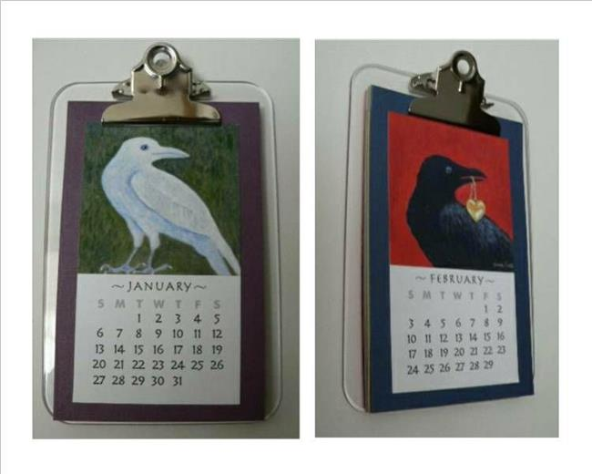 Art: Crow Art Calendar 2008 by Artist Sara Field