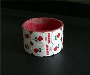 Detail Image for art Red Rose Tea Bag Tag Cuff