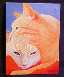Art: Red Blanket by Artist Rosemary Margaret Daunis