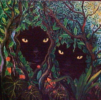Art: Garden Hideaway by Artist Rosemary Margaret Daunis