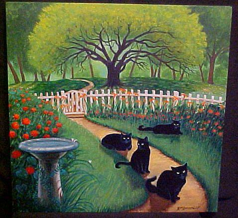 Art: Easy Living Cats by Artist Rosemary Margaret Daunis