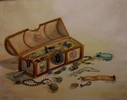 Art: Mary Lu's Treasure Chest by Artist Deborah Leger
