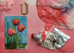 Art: Tulips and Tools by Artist Deborah Leger
