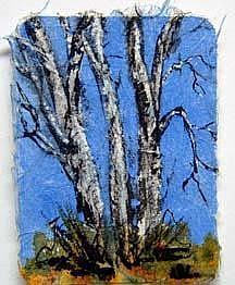 Art: Birch Tree Series, card 3 by Artist Deborah Leger