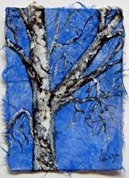 Art: Birch Tree Series, card 4 by Artist Deborah Leger