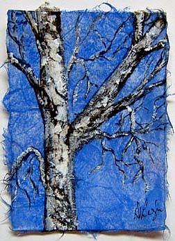 Art: Birch Tree Series, card 4 by Artist Deborah Leger