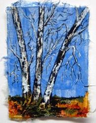 Art: Birch Tree Series, Card 5 by Artist Deborah Leger