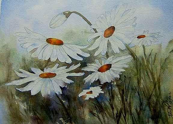 Art: Daisies by Artist Deborah Leger
