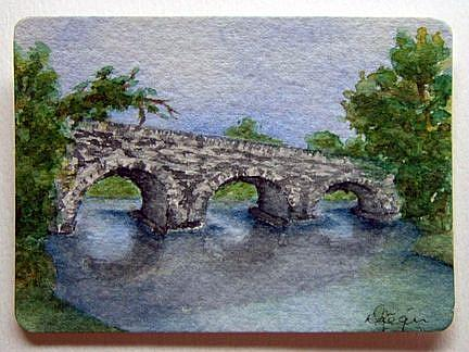Art: Glenbeigh Bridge, Southern Ireland by Artist Deborah Leger